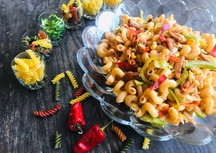 Saucy twisted macaroni!