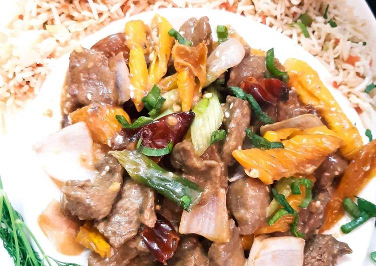 Easiest Way to Prepare Ultimate Yellow Pepper Beef with Hoisin Sauce