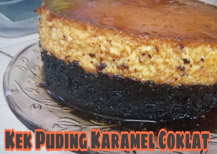 Kek Puding Karamel Coklat - velavinkabakery.com