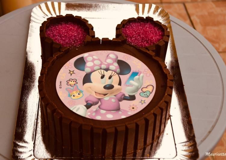 Gâteau Minnie & kit-kat