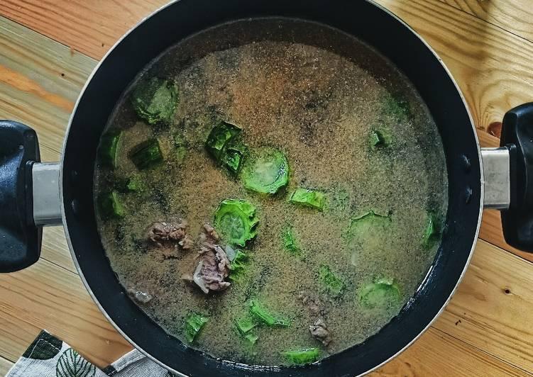 Petola dan daging masak tumis air - resepipouler.com