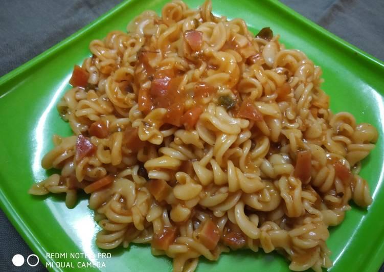 How to Prepare Yummy Red Sauce Fusilli pasta