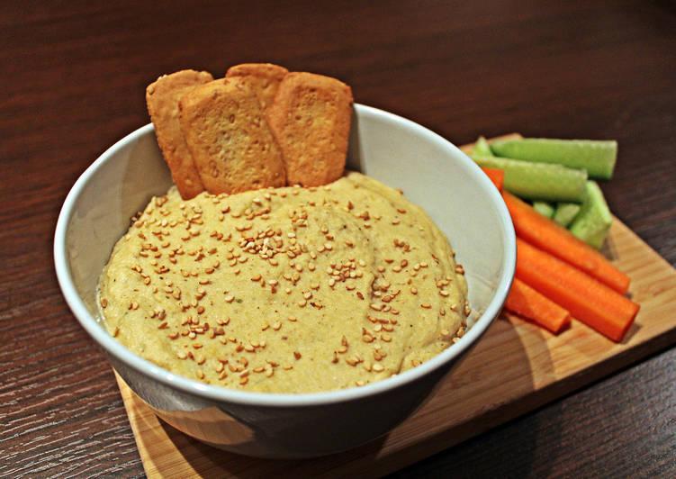 Hummus templado de setas