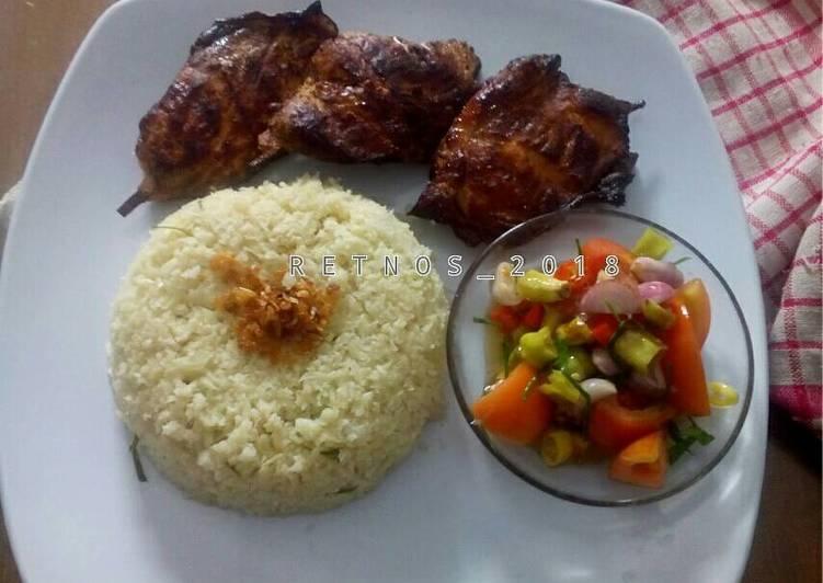 Cauliflower rice (nasi dari kembang kol) nasi diet