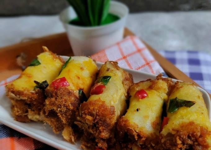 Resep Roti Gulung Abon (mini), Enak