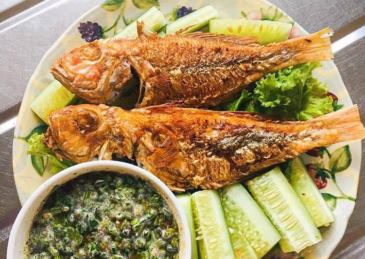 Resepi:  Simple Miang Pla Pao 🐟🥒  Dirumah