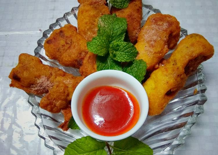 Stuffed Cottage Cheese Fritters