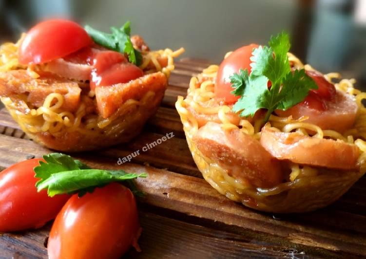 Resep Cara baru masak mie instant/muffin mie instant oleh DAPUR CIMOETZ - Cookpad