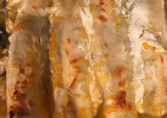 Chicken & Beef Fajita Enchiladas