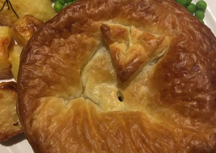 C'kn and mushroom pie 🌱
