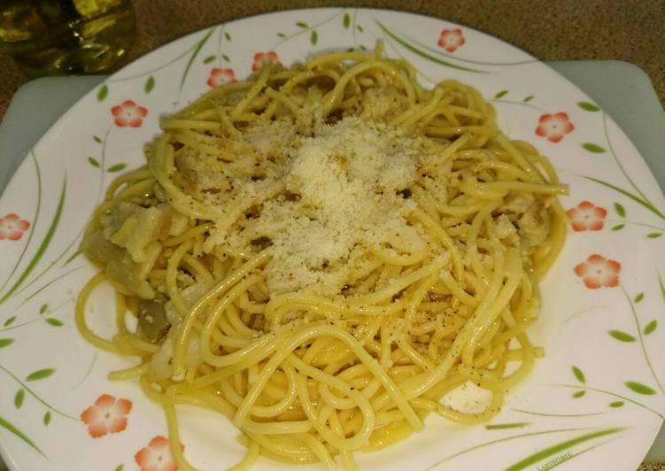 Espaguetis carbonara (sin nata)