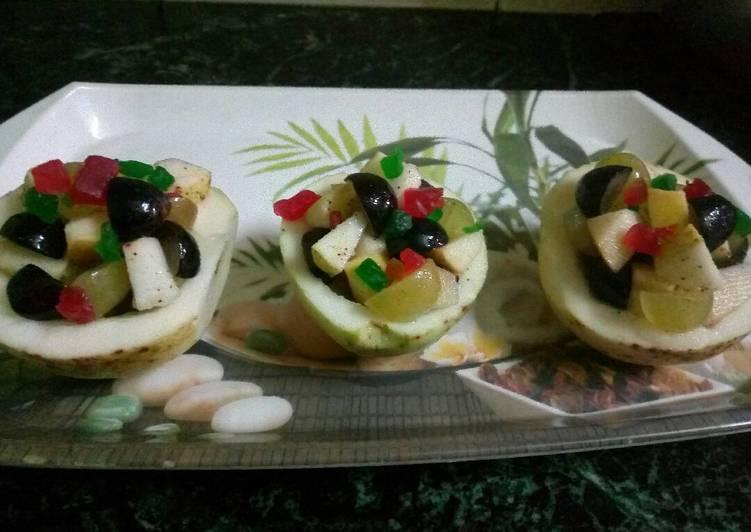 Steps to Make Favorite Guava katori fruit salad