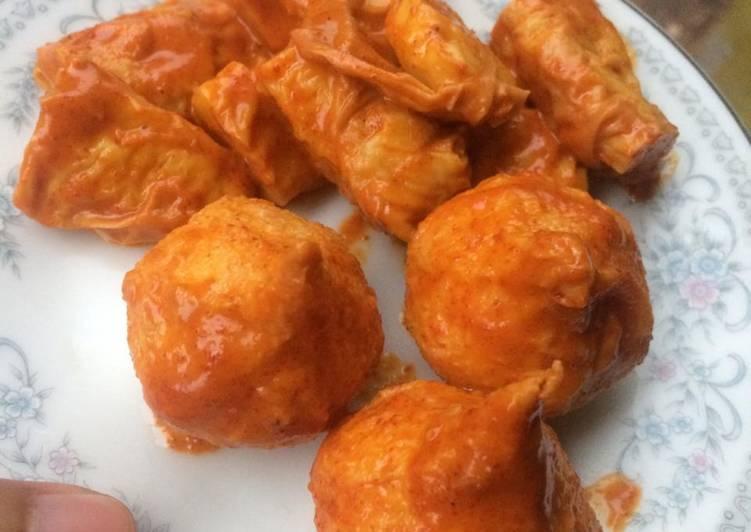 Dumpling ayam pake bumbu instan sambel goreng