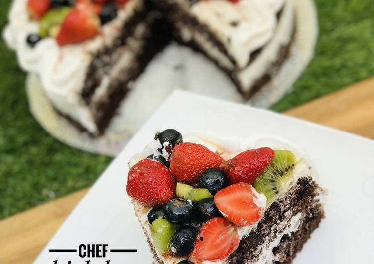 Fruity moist chocolate cake