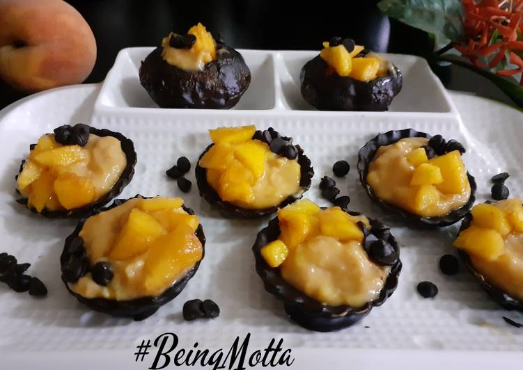 The Easiest and Tips for Beginner Chocolate Peach Tarts