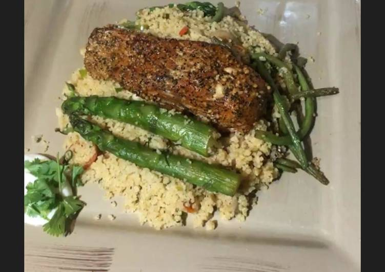 Easiest Way to Make Quick Couscous with Salmon