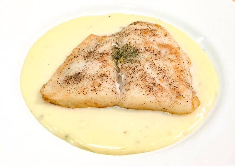 Pan fried dory with lemon butter sauce