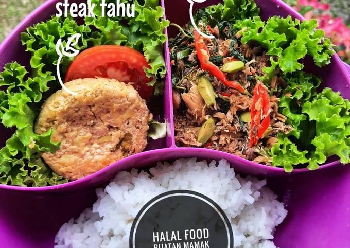 Steak Tahu - menu diet simple no minyak