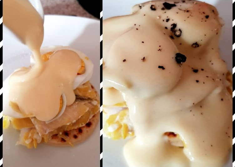 Recipe of Most Popular My Breakfast pile up with Hollandaise Sauce poured over 😍