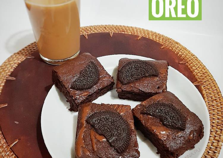 Chewy Brownies Oreo (no mixer)