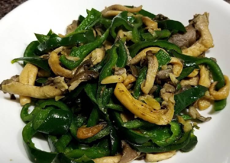 Recipe of Homemade Oyster mushroom and chili stirfry