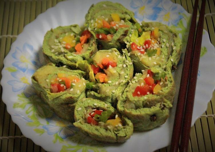 Spinach Egg Sushi