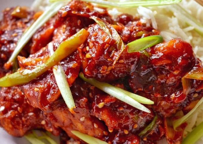 Korean Style Sticky Chilli Chicken