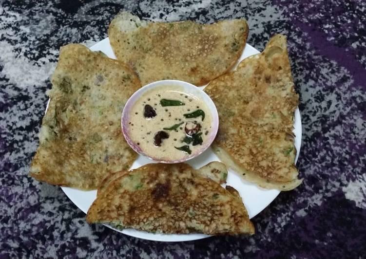 Steps to Make Super Quick Homemade Jowar Dosas/Sorghum Flour Dosas