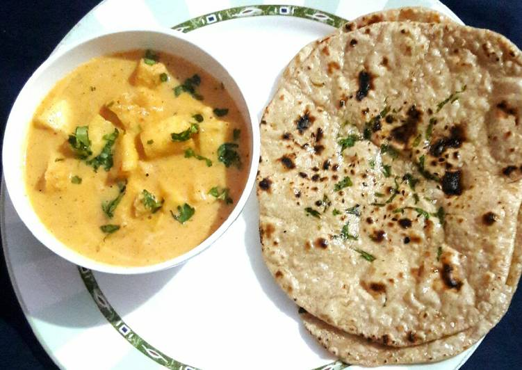 Paneer Butter Masala with Tava Naan