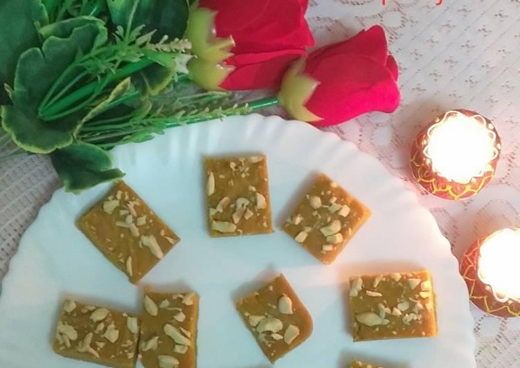 How to Prepare Homemade বেসন বরফি (besan barfi recipe in Bengali)