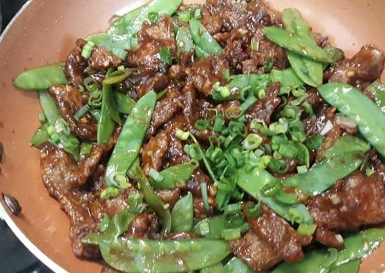 Recipe: Appetizing Crispy Beef with Snow Peas