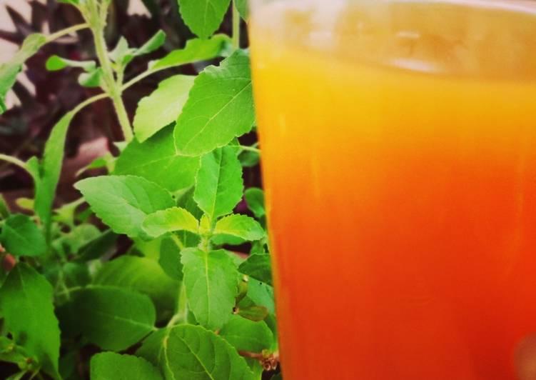 Steps to Prepare Perfect Turmeric-Basil Tea