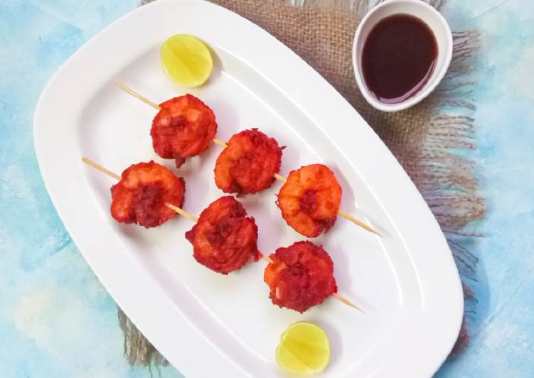 Recipe of Award-winning King prawn satay