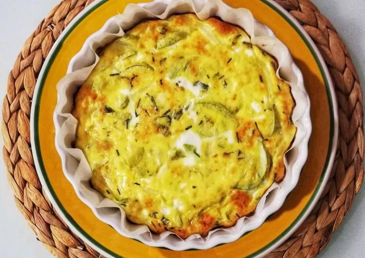 Ricetta Frittata al forno di zucchina bianca e cipolla 🌷
