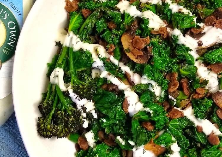 Green Goddess Stir-fry With Ranch Dressing (Vegetarian)
