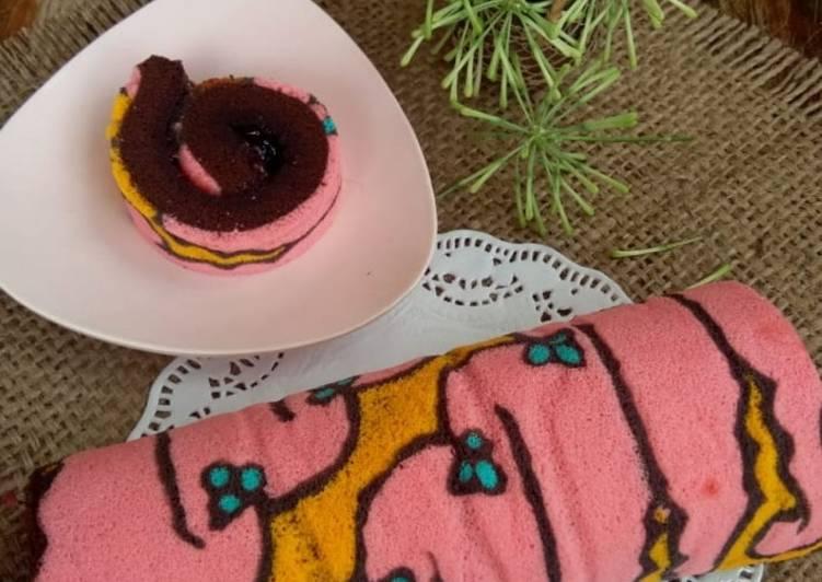 Bolu Gulung Kukus Batik