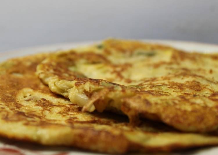 Délicieux Pancakes Poireaux-Ricotta