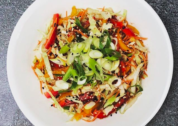 Simple Way to Make Any-night-of-the-week Asian cabbage slaw