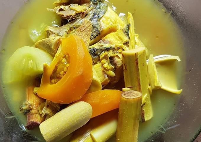Sayur asam khas dayak, humbut pekat/latung