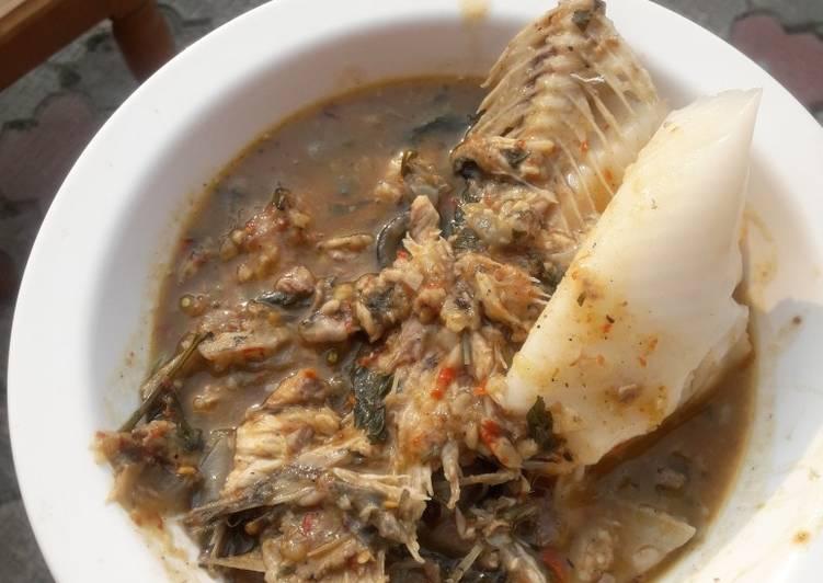 Fresh Fish pepper soup and Eko