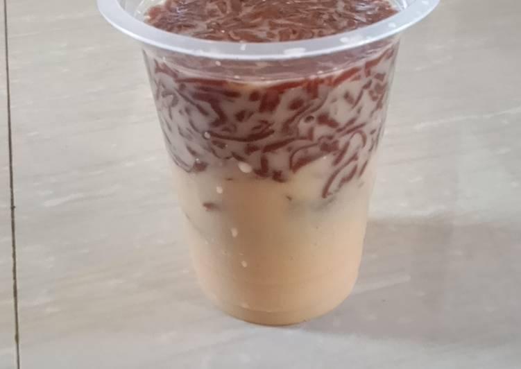 Es jelly coklat serut gula merah