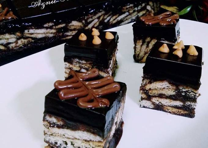 ☕Resepi Kek Batik Coklat Ganache☕
