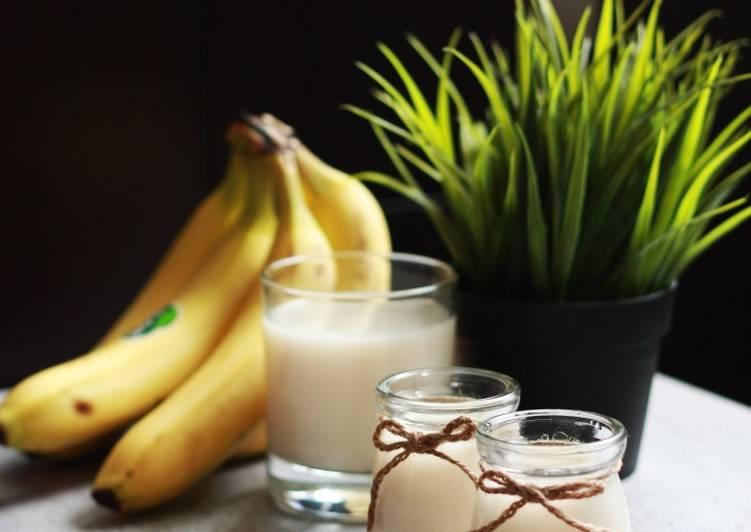Susu kacang rasa pisang Homemade