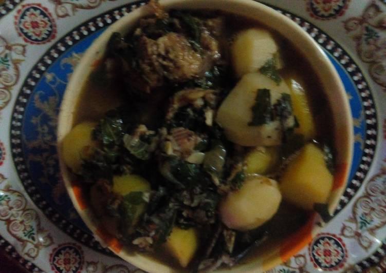 Catfish pepper soup with Irish potatoes