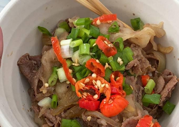 Beef ala yoshinoya