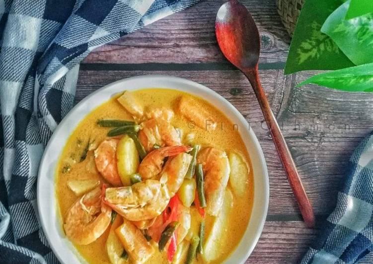 Gulai Udang Campur Sayur - resepipouler.com