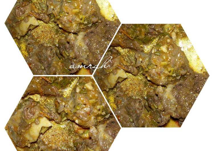 Recipe of Perfect Ram meat pepper soup with ugwu and spinach