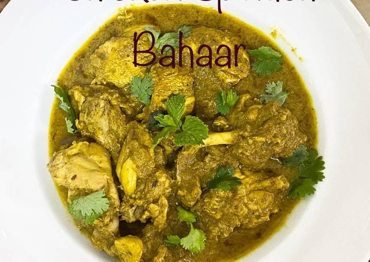 Steps to Prepare Perfect Chicken Spinach Bahaar / Hariyali Chicken