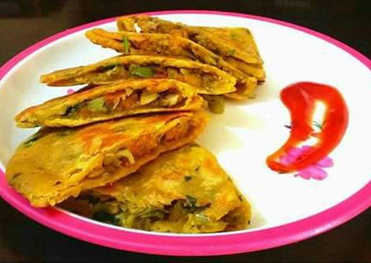 Dal Paratha with veg stuffing