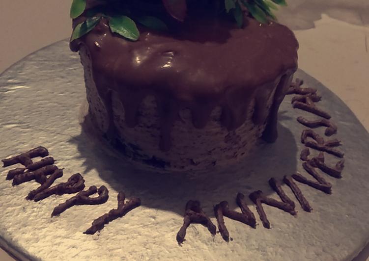 Chocolate ganache drip